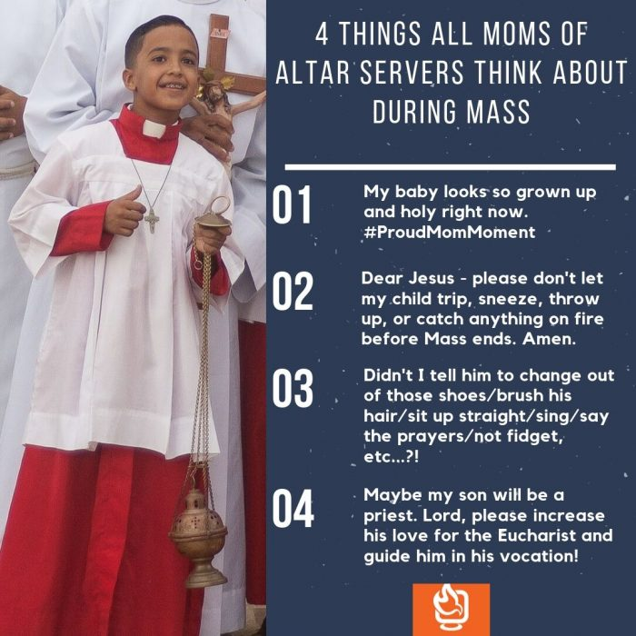 4 Things All Moms of Altar Servers Think About During Mass