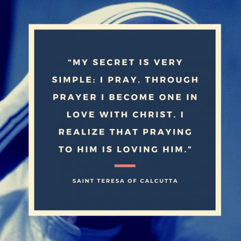 I Thirst Saint Quote Mother Teresa