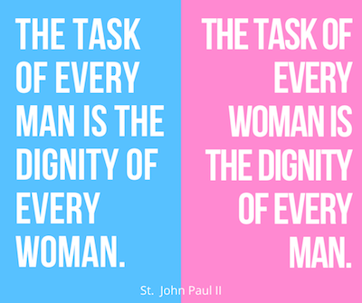 St. John Paul II Quote Duty of Man And Woman Vocation