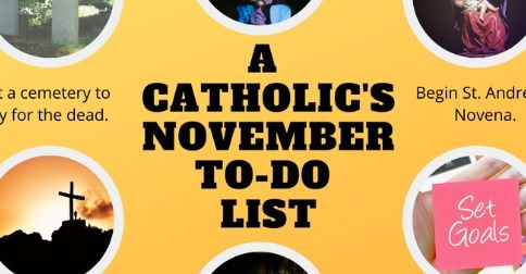 A CATHOLIC's November To-Do List