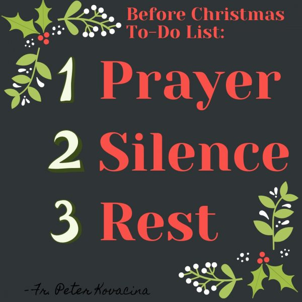 A Priest's Advice for Advent