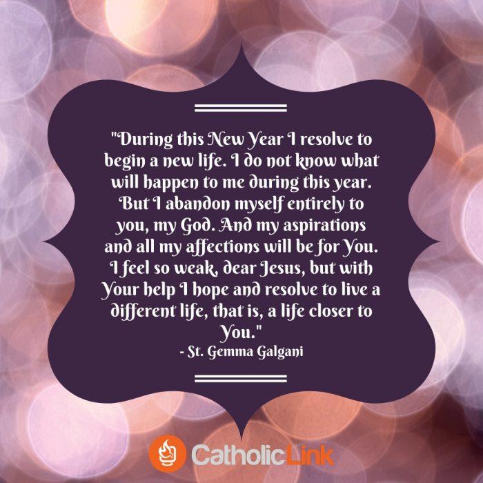 Saint New Year's Prayer