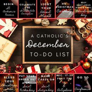 Catholic To Do List December
