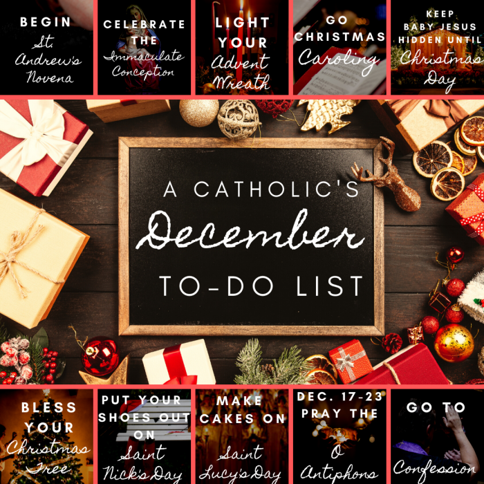 Catholic To Do List December