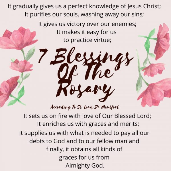 7 Blessings of The Rosary St. Louis De Montfort