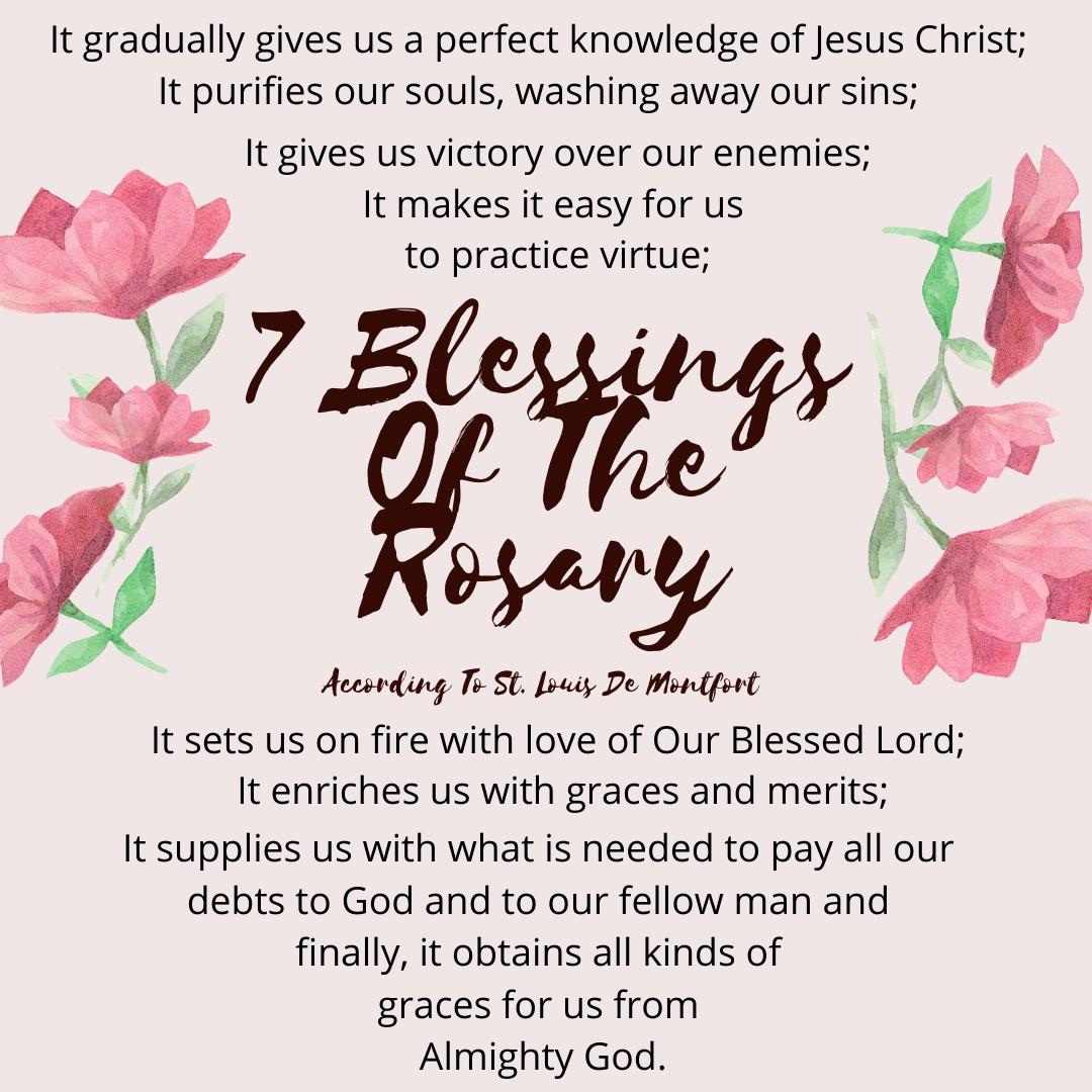 7 Blessings of The Rosary St. Louis De Montfort