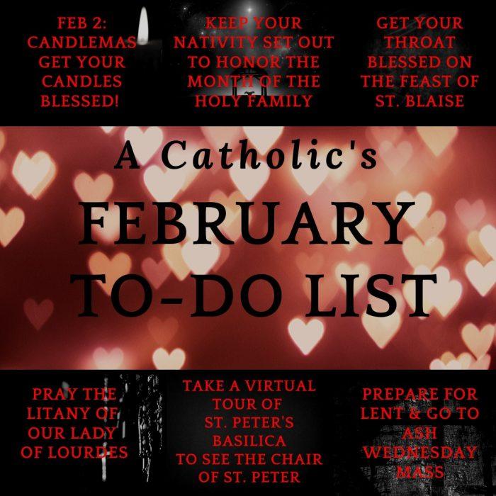 Catholic's February To Do List