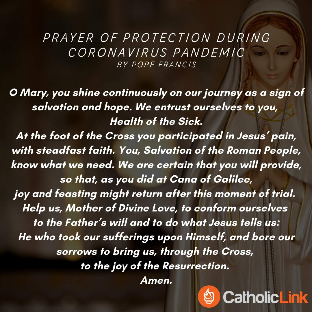 Coronavirus Prayer Mary Pope Francis
