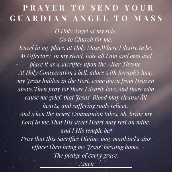 Send Your Guardian Angel To Mass Prayer
