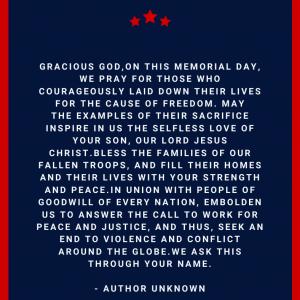 Memorial Day Prayer Catholic