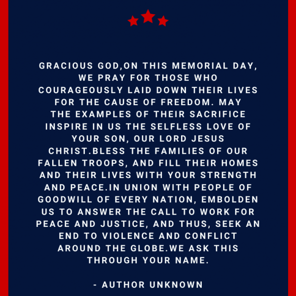Memorial Day Prayer Catholic
