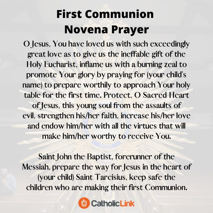First Communion Novena PRayer