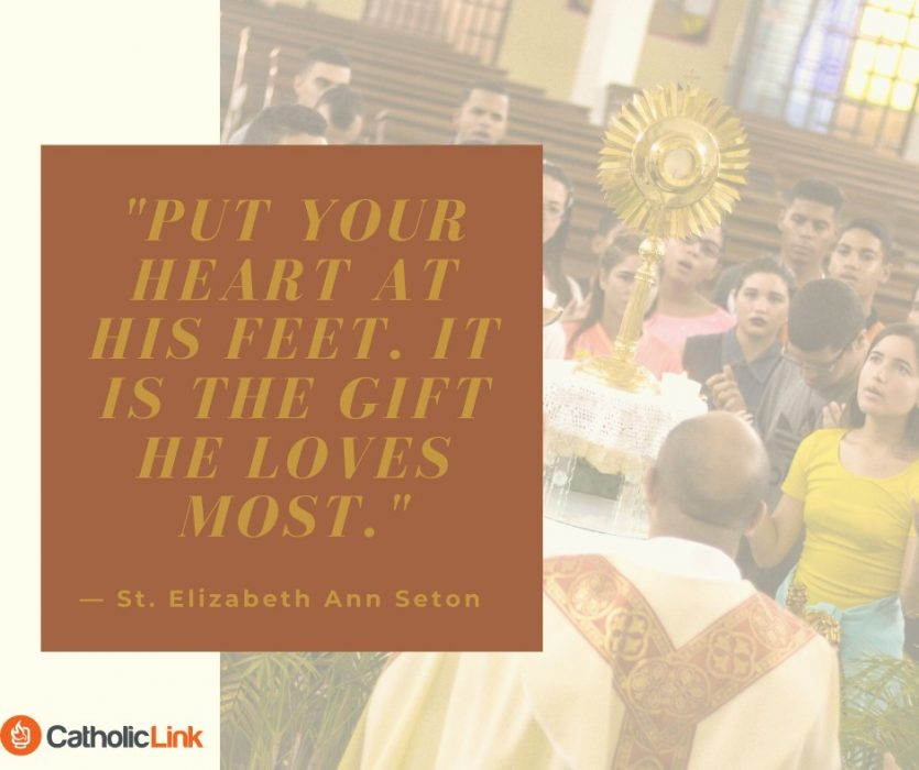 Put Your Heart At His Feet St. Elizabeth Ann Seton Quote