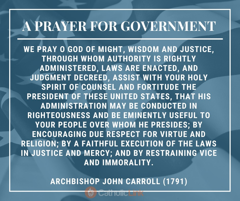 A Prayer For The United States | Archbishop John Carroll (1791)