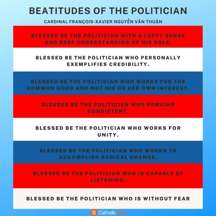 """Beatitudes of the Politician"", proposed by Vietnamese Cardinal François-Xavier Nguyễn Vãn Thuận"