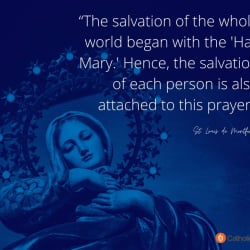 The Salvation Of The Whole World Began With A Hail Mary