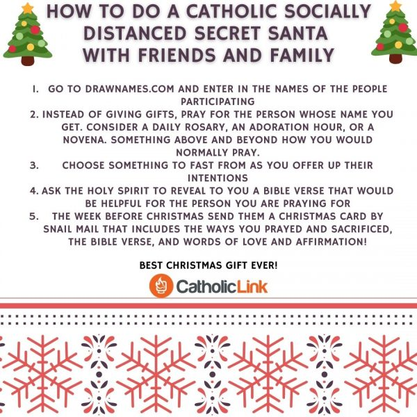 Catholic Secret Santa Socially DIstanced
