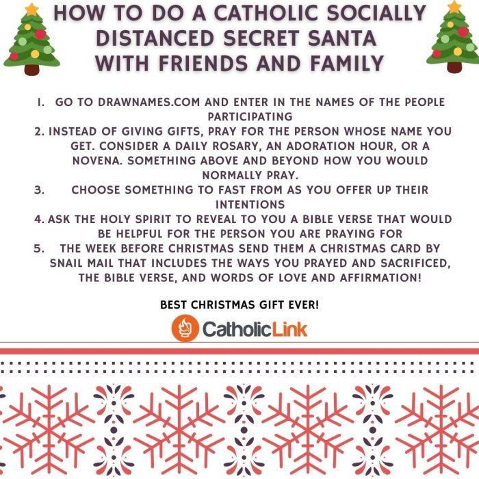 Catholic Secret Santa Socially DIstanced