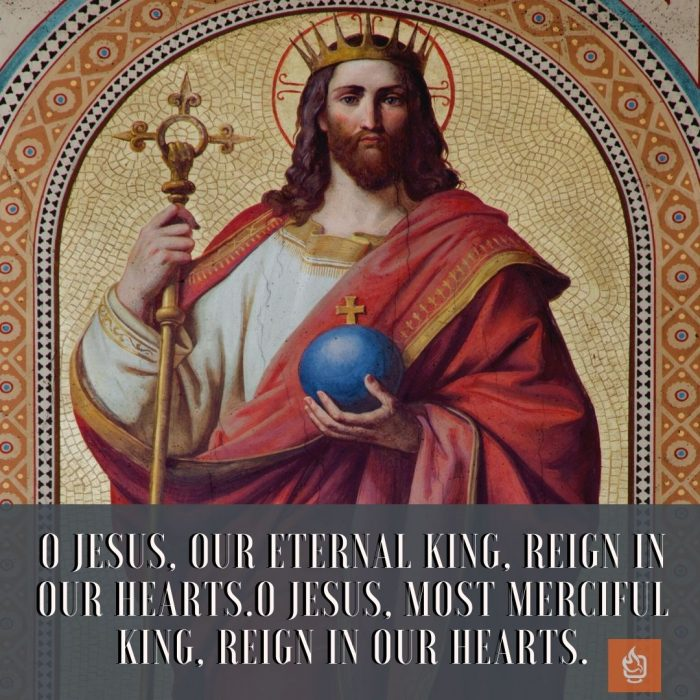 Quote Jesus Christ King of the Universe Feast Day
