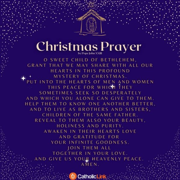 The Christmas Prayer By Pope John Pope John XXIII
