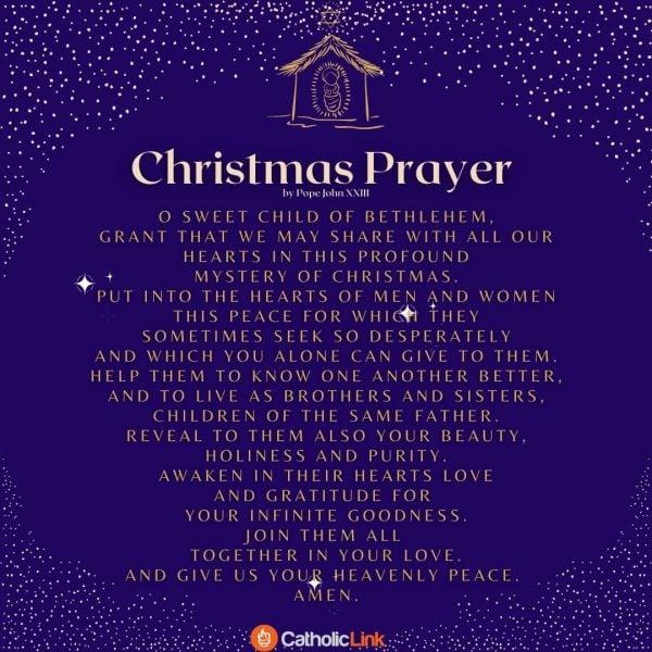 The Christmas Prayer By Pope John Pope John XXIII