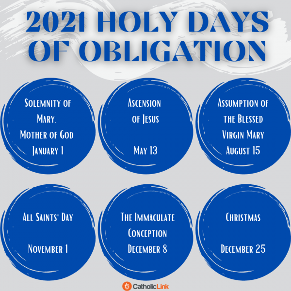 Catholic Holy Days Of Obligation 2021