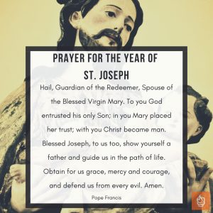 Prayer for the Year of St. Joseph by Pope Francis