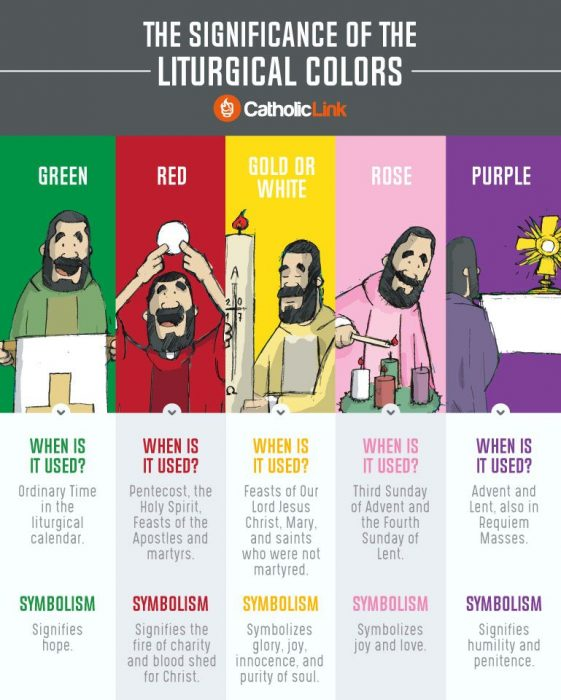 Liturgical Colors Of Priest Vestments