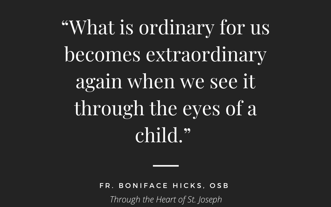 Through The Eyes Of A Child | Fr. Boniface Hicks Quote