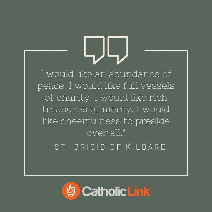St. Brigid of Kildare Quote