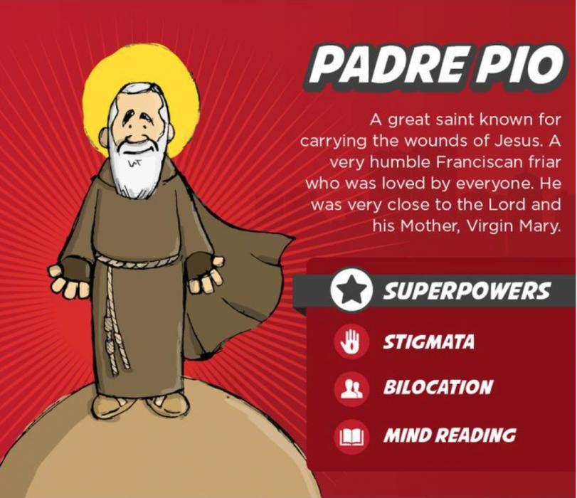 St. Padre Pio ultimate superhero saints for kids