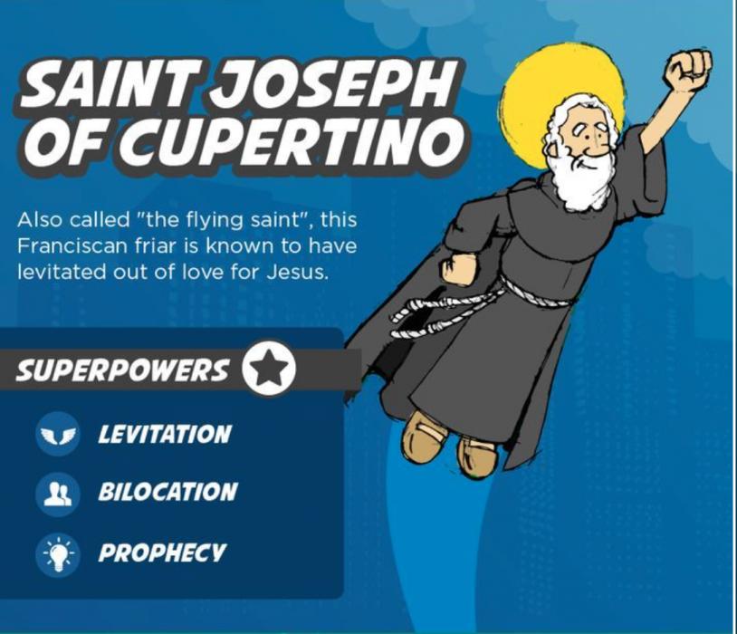 St. Joseph of Cupertino Superhero Saints for Kids