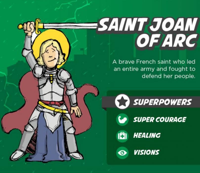 St. Joan of Arc Superhero saints for kids