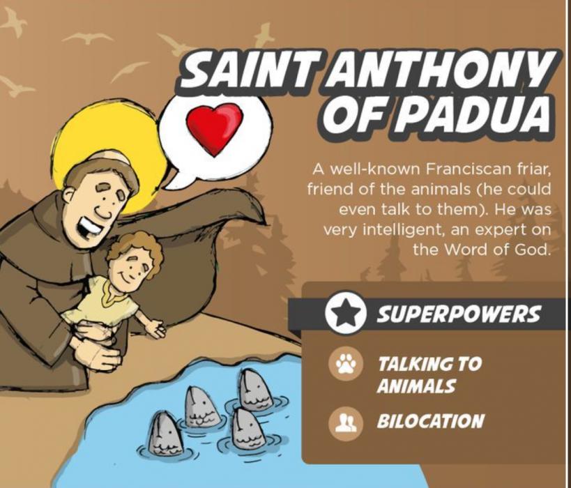 St. Anthony of Padua Superhero Saints for kids