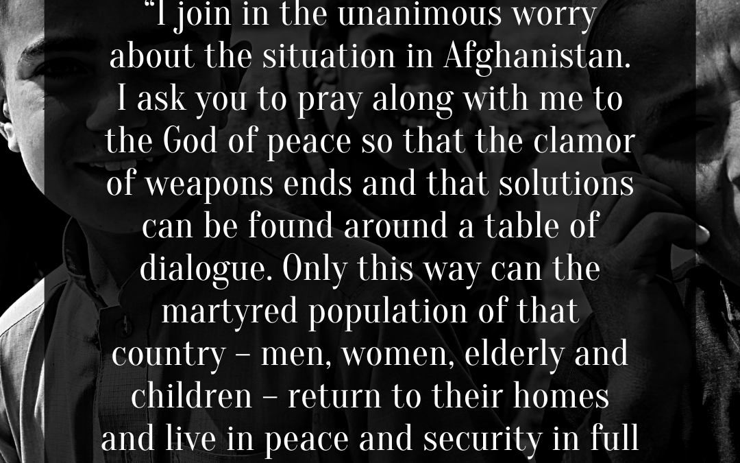 A Call To Pray For Peace And Hope | Pope Francis