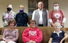 odi the Director of Children & Family Ministries (white mask) Rita Hemmer is our Youth & Young Adult Minister (black mask) E-team (Evangelization-Team) members participating preparing The Chosen in 2020: Fr Don Buhrman (Standing next to me) Anne Goetz (standing next to Rita), Kathy Boroff, Michelle Matthews, Beata Nabity & Dennis Harb (not pictured)