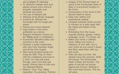 30 Things Catholics Need For Spiritual Survival